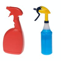 Assortment of cleaning bottles