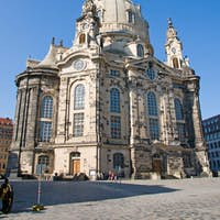 The famous Frauenkirche in Dresden