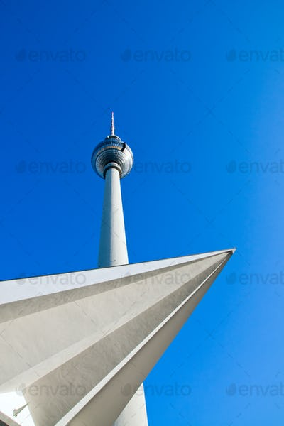 Different view of Berlins television tower