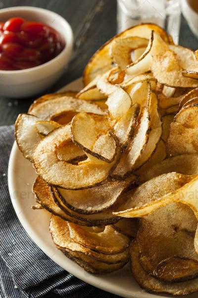 Homemade Spiral Cut Potato Chips
