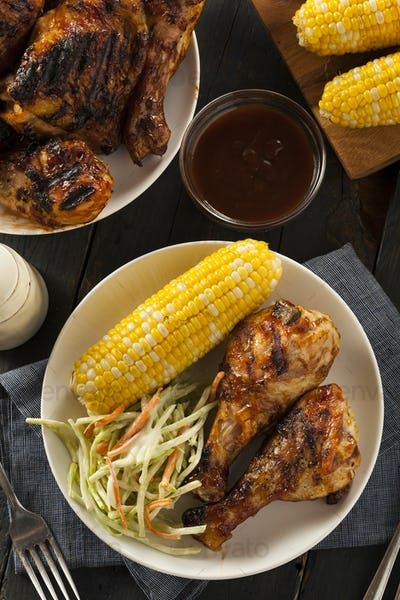 Homemade Grilled Barbecue Chicken