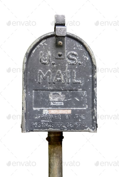 Isolated Vintage US Mail Box