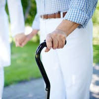 Walking with cane