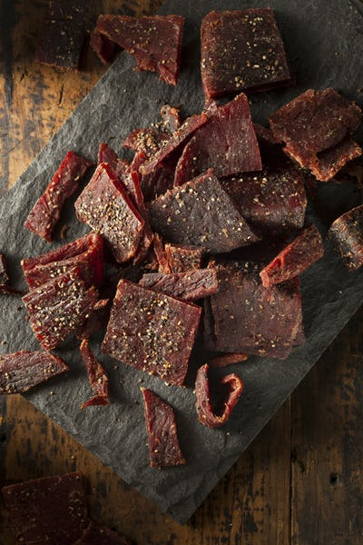 Dried Peppered Beef Jerky