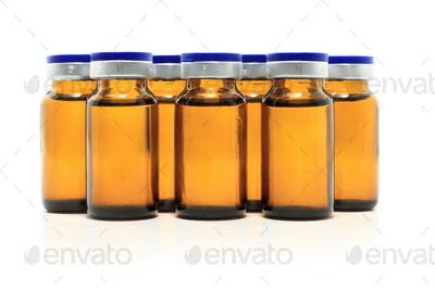 glass bottles and medicine